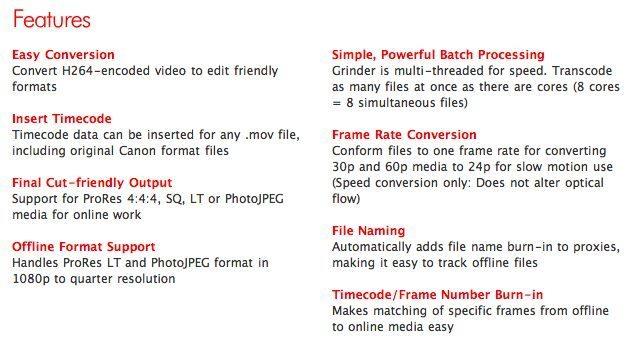 Magic Bullet Grinder: Convert your DSLR footage into edit friendly ...