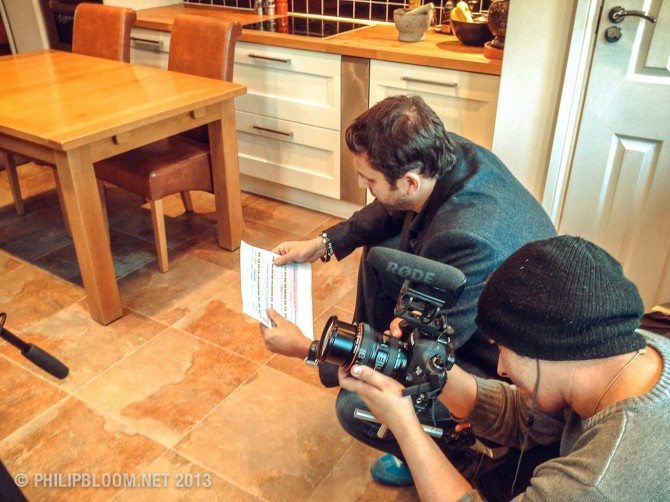 Jack Daniel Mills filming BTS in my kitchen