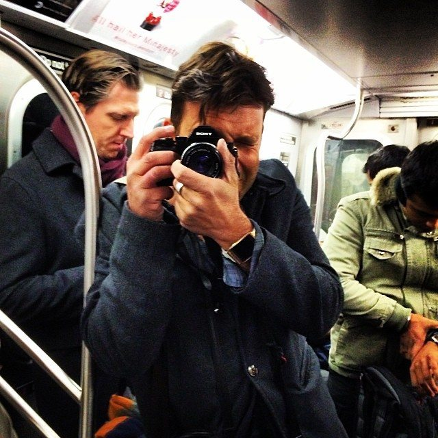 "Tiny form factor to shoot with discretely. All A7R stuff was shot like this with no rig. This is ""lens whacking"" on the NY subway"