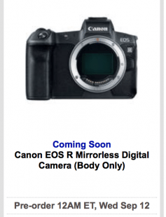 Canon finally unveil their first mirrorless full frame camera, but