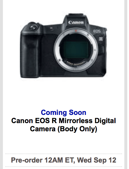 Canon finally unveil their first mirrorless full frame camera, but ...