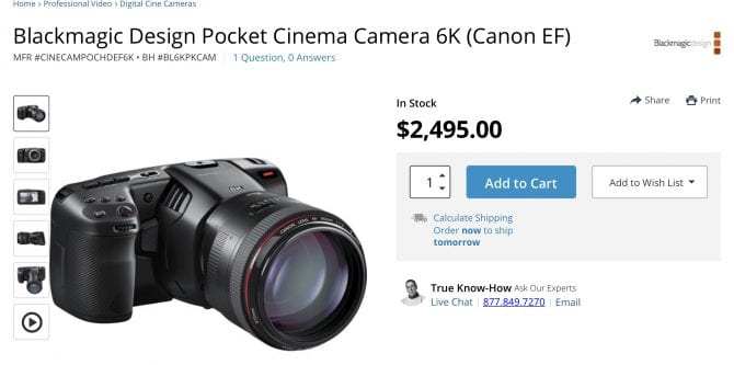 Blackmagic Announce The Pocket Cinema Camera 6k And It S Available Now Philip Bloom Blog